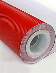 """lorcoo ™ filme fibra vinil 3d carbono embrulhar 12 """"x60"""" folha (borda livre) do rodo presente"""