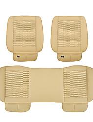 PU Leather Car Seat Cushion 3PCS Ivory