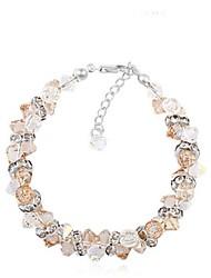 Bracelet Chaîne Alliage Cristal Femme