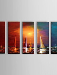 Handpainted Oil Paintings Sailing on the Sea Office Decor with Stretched Frame Ready To Hang