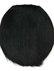 парик черный 8 см высокотемпературный провод стиль ножа стучит цвет 4010