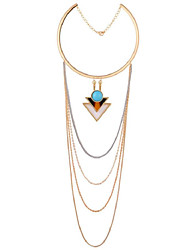 LGSP Women's Alloy Necklace Daily Turquoise-61161080