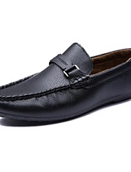 Men's Shoes Wedding / Office & Career / Party & Evening / Athletic / Dress / Casual Synthetic Loafers Black / Brown