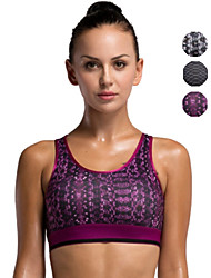 Vansydical Women's Quick Dry Yoga Tops Gray / Purple