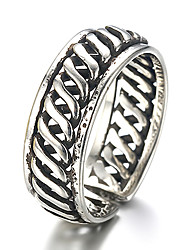 Unisex Vintage Pattern Punk Hollow Antique Sterling Silver Ring Band Rings Daily / Casual 1pc