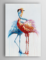 Hand Painted Oil Painting Animal Two Birds in Love with Stretched Frame 7 Wall Arts®