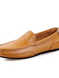 Men's Shoes Wedding / Office & Career / Party & Evening / Athletic / Dress / Casual Nappa Leather Loafers Black / Yellow