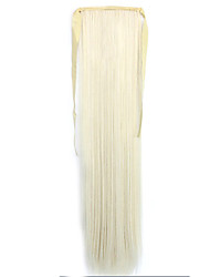 White Straight Blending Long Straight Hair Wig Ponytails 1001/613
