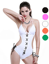 Bikini / Une-pièce Aux femmes Coupé Licou Nylon / Spandex