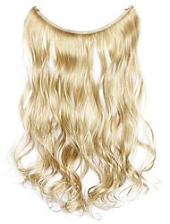 парик золотой 45см синтетическая высокая температура проволоки вьющиеся волосы кусок цвет 16/613