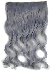 20 inch 5 Clips in Granny Grey Body Wave Synthetic Hair Extension