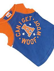Hunde T-shirt Blau Hundekleidung Sommer Buchstabe & Nummer / Sterne