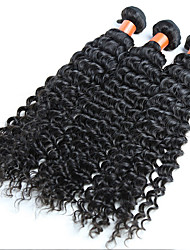 Natural Color Hair Weaves Indian Texture Deep Wave 18 Months 3 Pieces hair weaves