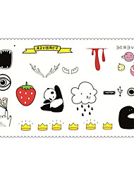 Fashion Temporary Tattoos Cartoons Sexy Body Art Waterproof Tattoo Stickers 5PCS (Size: 2.36'' by 4.13'')