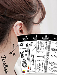 20Pcs/Lot  Temporary Tattoo Sticker  Word Art Lettering Waterproof Tattoo Paste Removable Tatoo