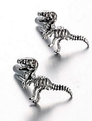 Men's Fashion Dinosaur Style Silver Alloy French Shirt Cufflinks (1-Pair)