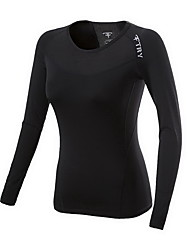Femme Tee-shirt de Course Manches Longues Compression Tee-shirt Hauts/Tops pour Exercice & Fitness Course/Running S M L XL