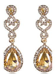 Pendentif d'oreille Boucle Zircon / Alliage Cristal Femme