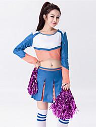 Tenue(Multicolore,Coton Polyester,Costumes de Pom-Pom Girl)Costumes de Pom-Pom Girl- pourFemme Plissé Spectacle Costumes de Pom-Pom Girl