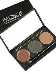 2016 New 2 Colors Eyebrow Powder + 1 Color Eyebrow Eyeshadow Cream Makeup Palette Long Lasting Waterproof Cosmetics