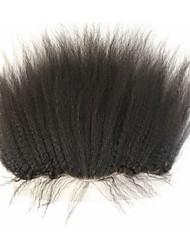 Kinky прямая уха до уха кружева лобной 13 * 4 с волосами младенца и беленой узлов