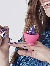Mulher flexível nova vestível prego anel suporte para garrafa polonês múltiplos serve para todos dedo (cores aleatórias)