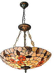 21 inch Retro Tiffany Pendant Lights Shell Shade Living Room Dining Room light Fixture