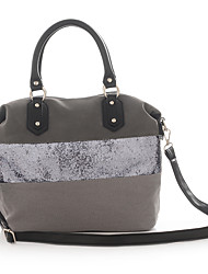 K'rlot/Women-Formal / Casual / Outdoor / Office & Career / Shopping-Canvas / leatherette-Tote-Blue / Gray / Black