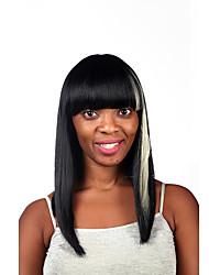 natural a longo multi-cor destaca peruca sintética para a mulher