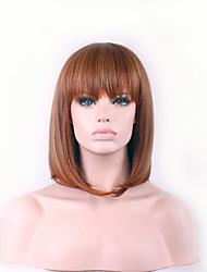 best-seller de l'Europe et les États-Unis un brun perruque Bang soignée bobo perruque