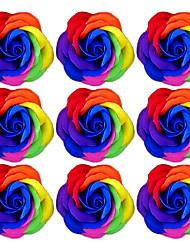 романтическая новизна мыло цветок розы подарок для любителей стирки (случайный цвет) 9pcs / комплект
