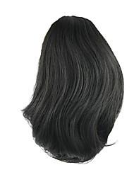 comprimento peruca preta curta rabo de cavalo 25 centímetros sintética de alta temperatura reta cor fio 2
