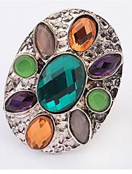 Alliances Femme Cristal Alliage Alliage Ajustable Argent La couleur d'embellissement est présentée comme l'image