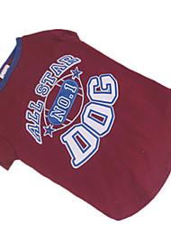 Hunde - Sommer - Baumwolle Rot - T-shirt - XS / S / M