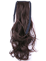 Black Length 50CM Factory Direct Sale Bind Type Curl Horsetail Hair Ponytail(Color 33)