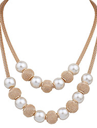 Necklace Pendant Necklaces / Pearl Necklace Jewelry Wedding / Party / Daily / Casual Pearl / Alloy / Imitation Pearl White 1pc Gift