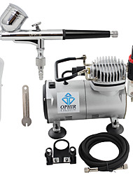 OPHIR 110V,220V Dual Action Airbrush Compressor Kit for Airbrushing Tattoo Hobby Cake Decoration