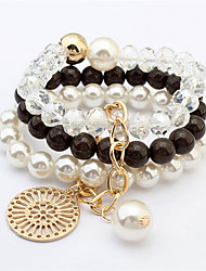 European And American Fashion Atmosphere Pearl Disc Bracelet