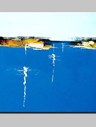 lager Hand modernes abstraktes Ölgemälde auf Leinwand Wandkunst Bild für Zuhause Whit Rahmen fertig lackierten 100x100cm zu hängen