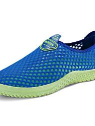 Women's Comfort Tulle Casual Flat Heel Blue Green Gray Fuchsia