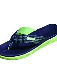 Herren-Slippers & Flip-Flops-Lässig-Silikon-Flacher Absatz-Komfort-Schwarz / Blau / Grün / Rot / Taubengrau