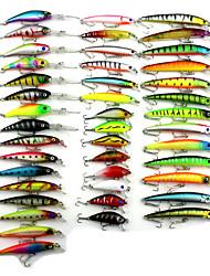 Mixed 6 Items Hot Selling Plastic Minnow 43pcs/Set Fishing Lures Random Colors