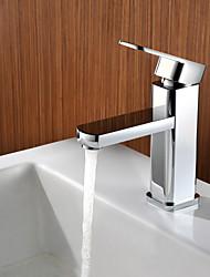 Zeitgenössisch deckenmontiert Einhand Ein Loch in Chrom Waschbecken Wasserhahn