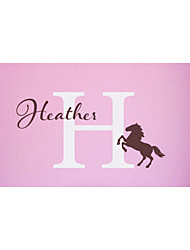 2016 New Personalized Baby's Name And Horse 3D Vinyl Wall Stickers Bedroom Wall Art Decor