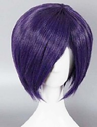 Fashion Color Cartoon Wig Purple Male Money Short Wigs