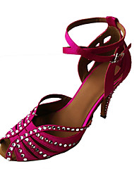 Zapatos de baile(Amarillo / Fucsia) -Latino / Zapatos de Swing-No Personalizables-Tacón Stiletto