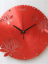 Garden Art Round The Wall Clock