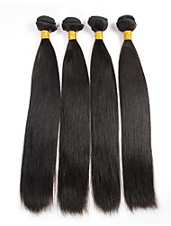 4 Pcs/Lot Remy Brazilian Virgin Hair Silky Straight Weave Natural Black Raw Human Hair Bundles 400g