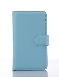 capa protetora em relevo couro pu titular do telefone de couro cartão da carteira para o Sony Xperia e4g