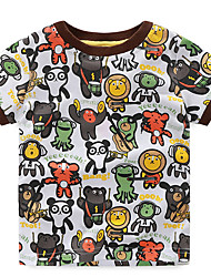 Children's T Shirt Boys' Tees Baby Clothing Little Boy Summer T-shirt Tees Cute Cartoon Pattern Printed Cotton Material